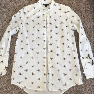 NWT Victoria Beckham target extra small blouse bee